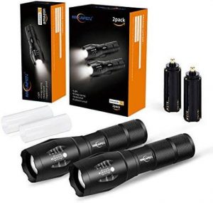 Mikafen LED Tactical Dog Walking Flashlight